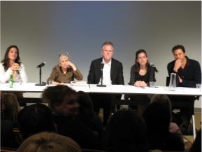From left: Katie Workman, Barbara Kafka, Jim Peterson, Amanda Hesser, Rocco DiSpirito